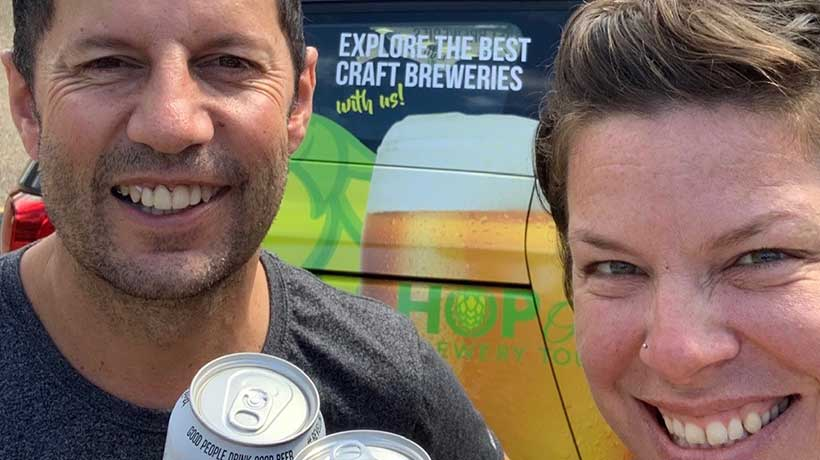 Joslyn and Matt, Owners, Hop On Brewery Tours