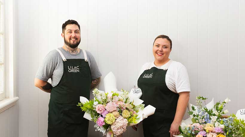 Rachel and Boston, Owners, Lilac Green Florist